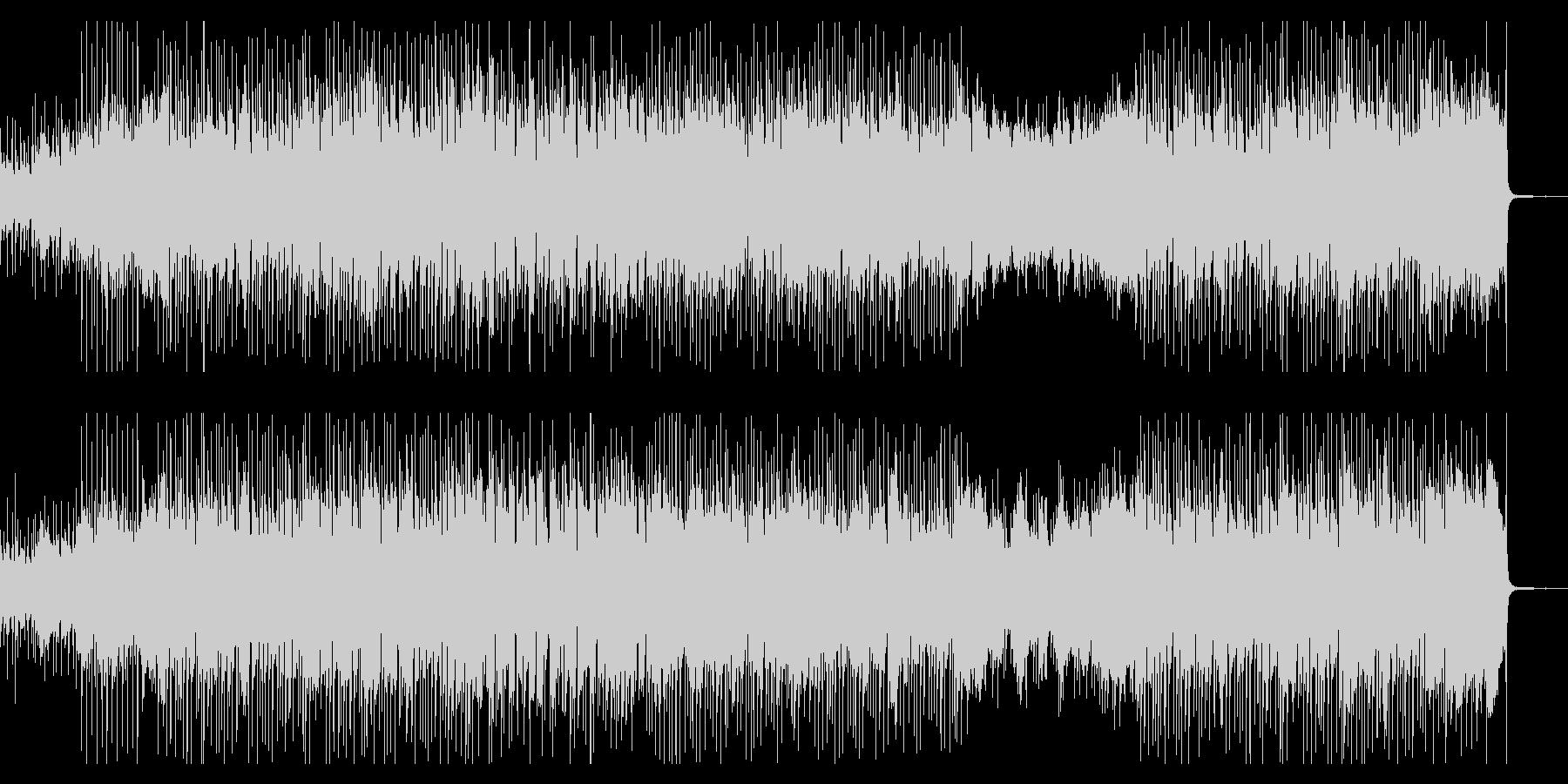 爽やかなピアノとオルガンのロックの未再生の波形