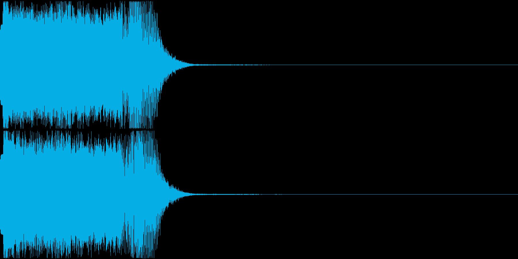 衝撃 ヒューン ピューン ドン 落下の再生済みの波形