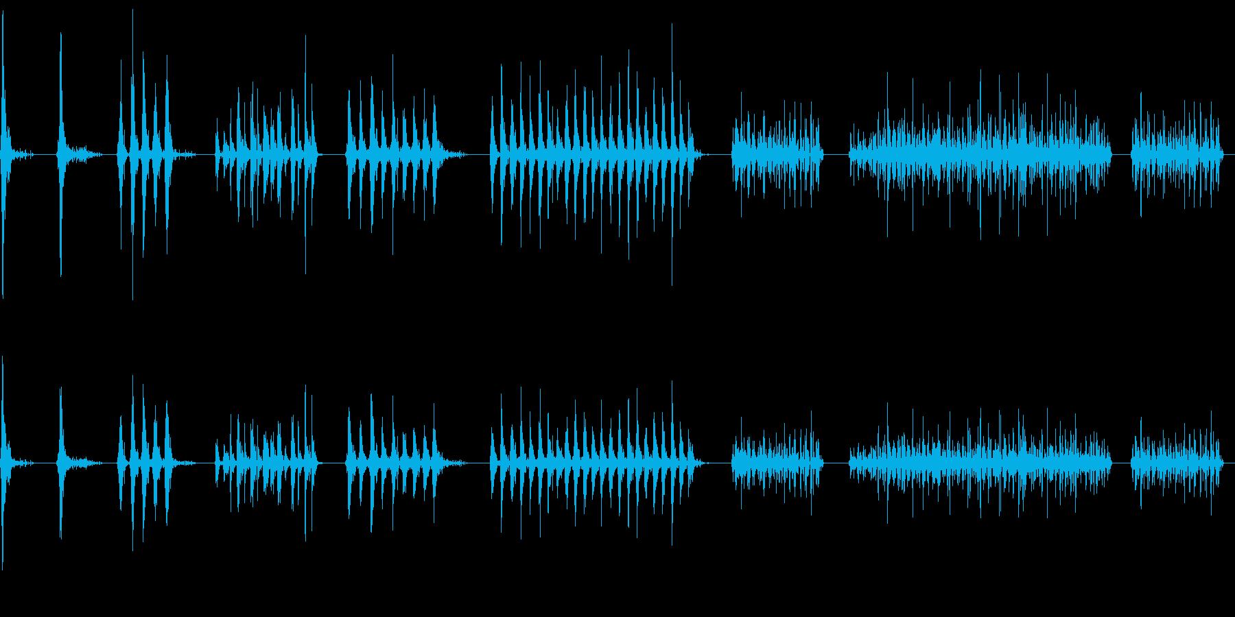 タンブリン、メタル、ロール、スピン...の再生済みの波形