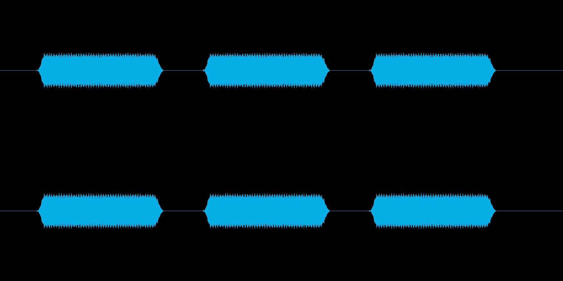 【汎用・セリフ音等】ピピピ(高)の再生済みの波形