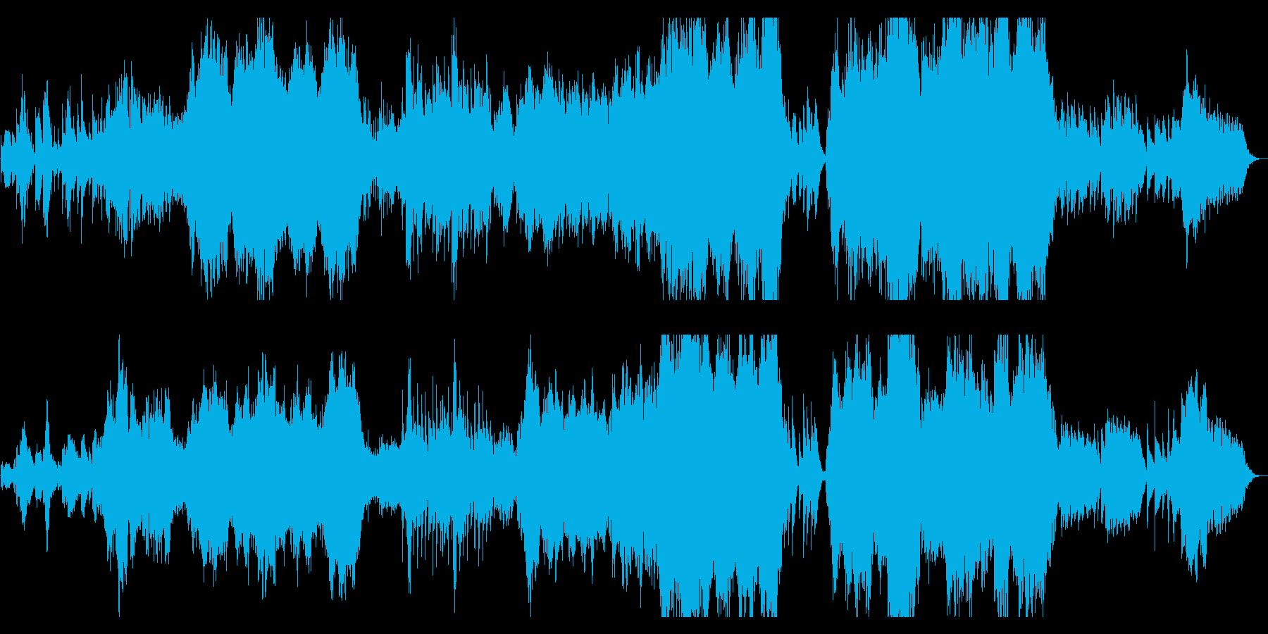 美しく神秘的なオーケストラファンタジーの再生済みの波形