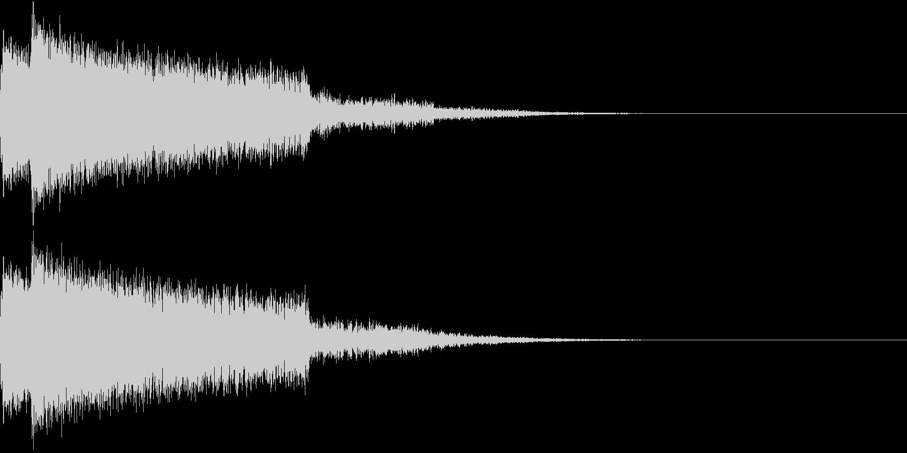 ピキューン ピキーン ズキューン 2の未再生の波形
