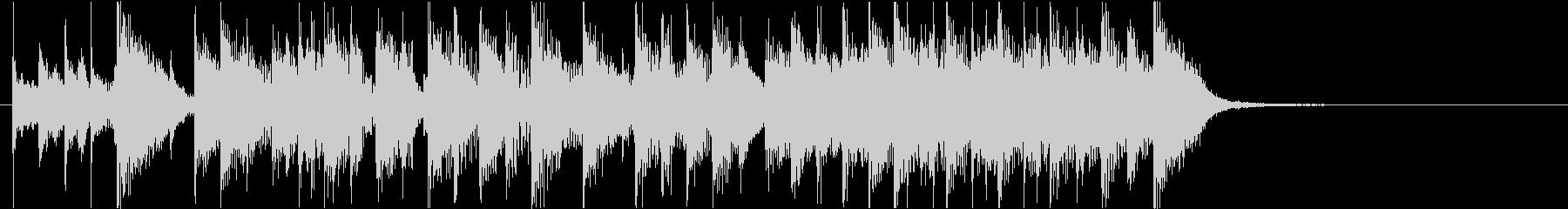 軽快でカワイイ昭和テイストのサウンドロゴの未再生の波形