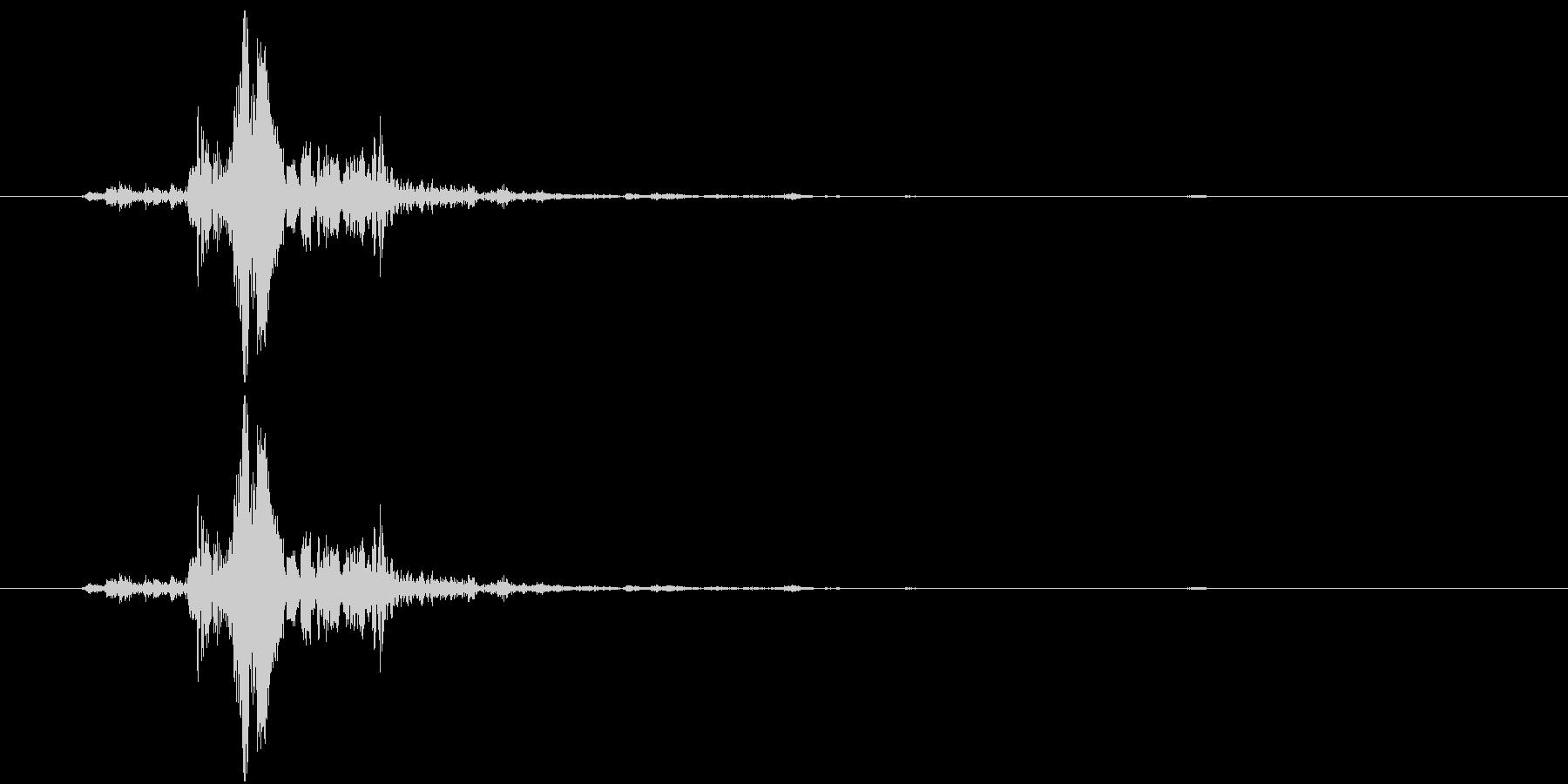 何かの装置的な音の未再生の波形