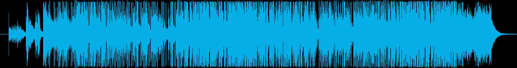 EDMでフェスのような曲の再生済みの波形