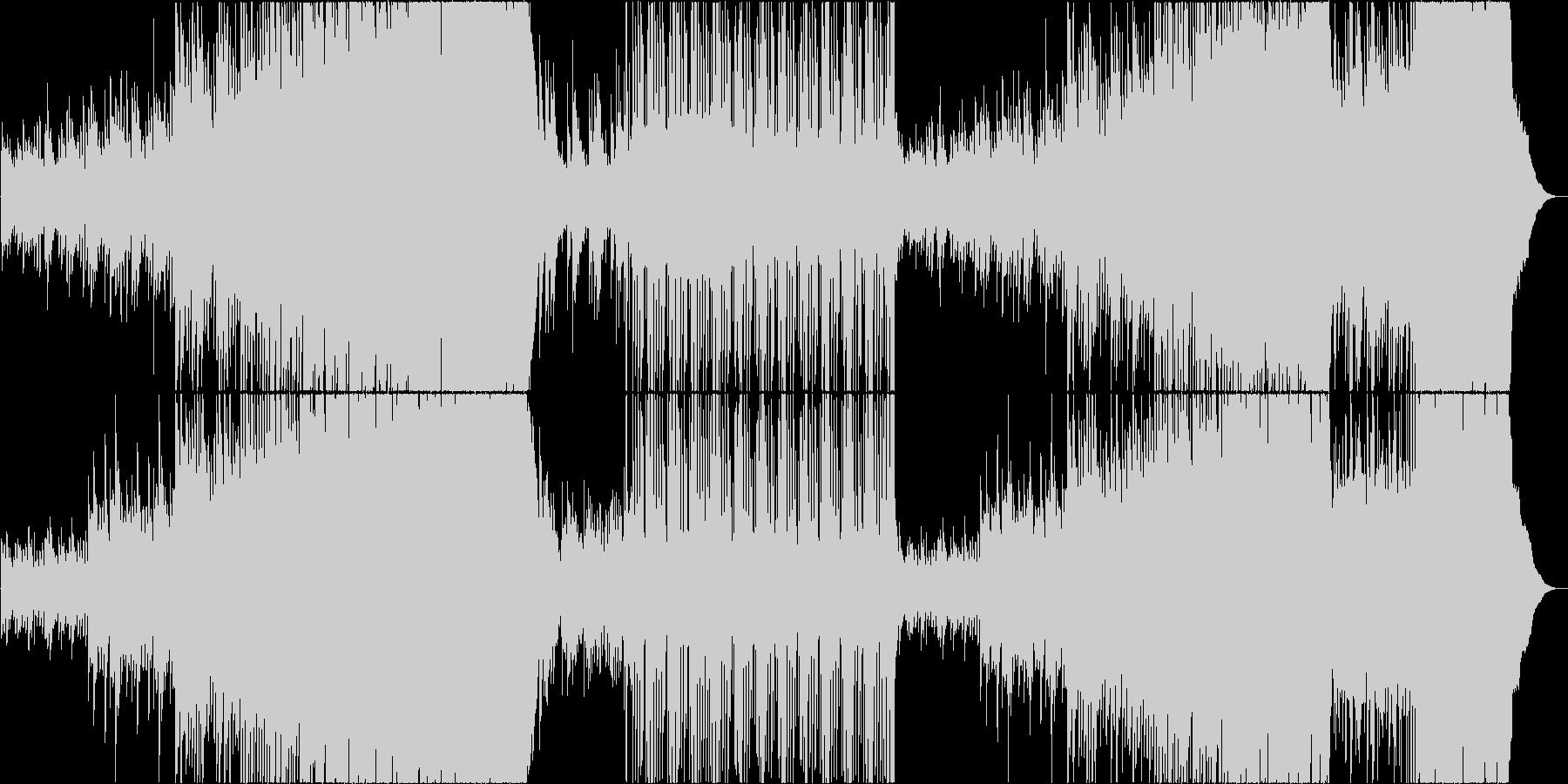 映像用ゆったり切ない感動系ロックの未再生の波形