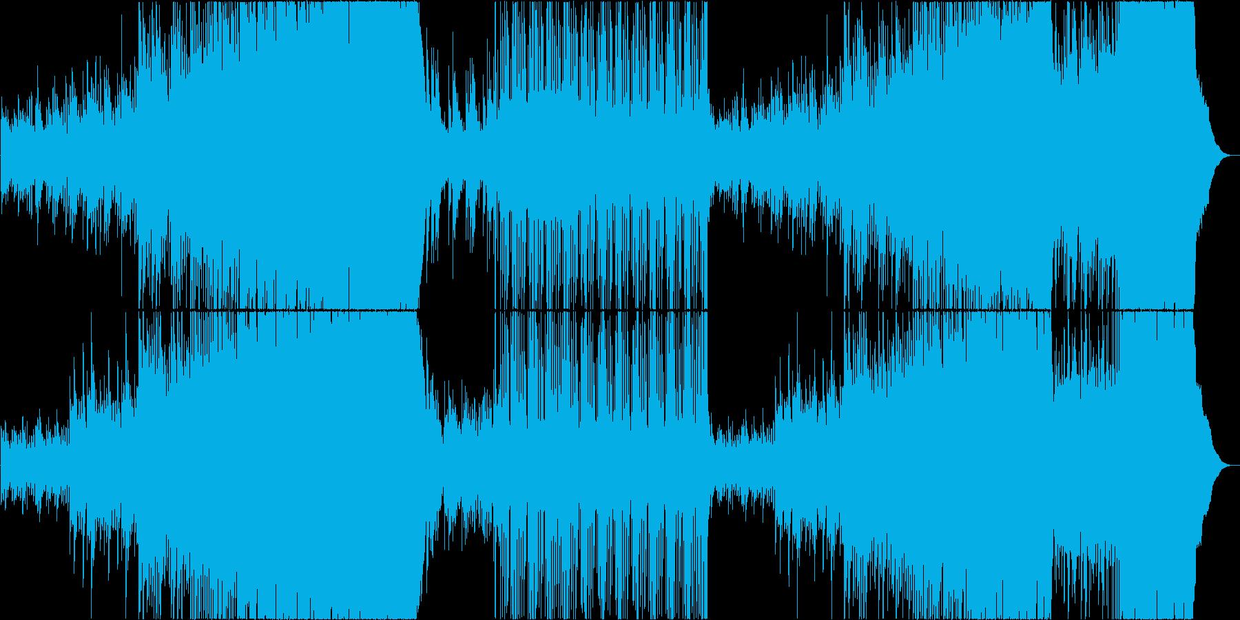 映像用ゆったり切ない感動系ロックの再生済みの波形
