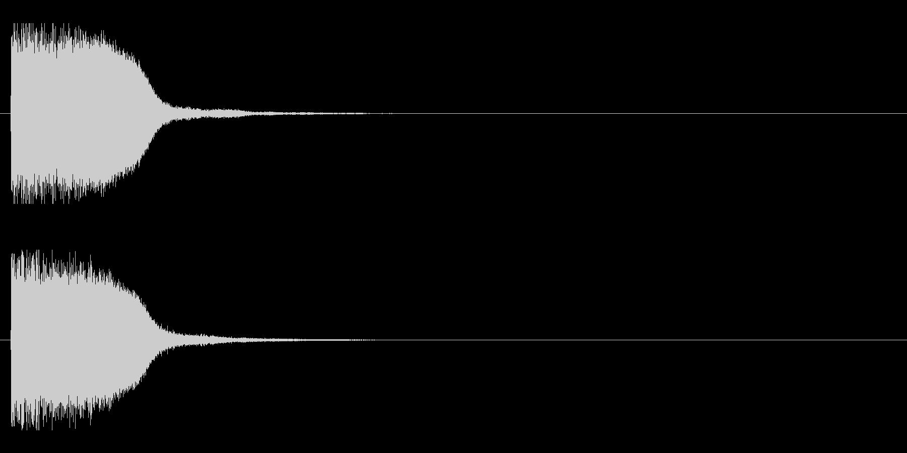 レーザー音-85-1の未再生の波形