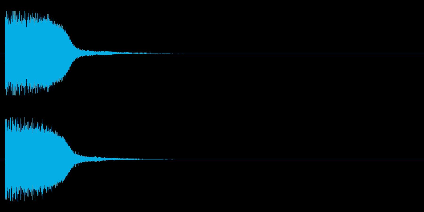 レーザー音-85-1の再生済みの波形