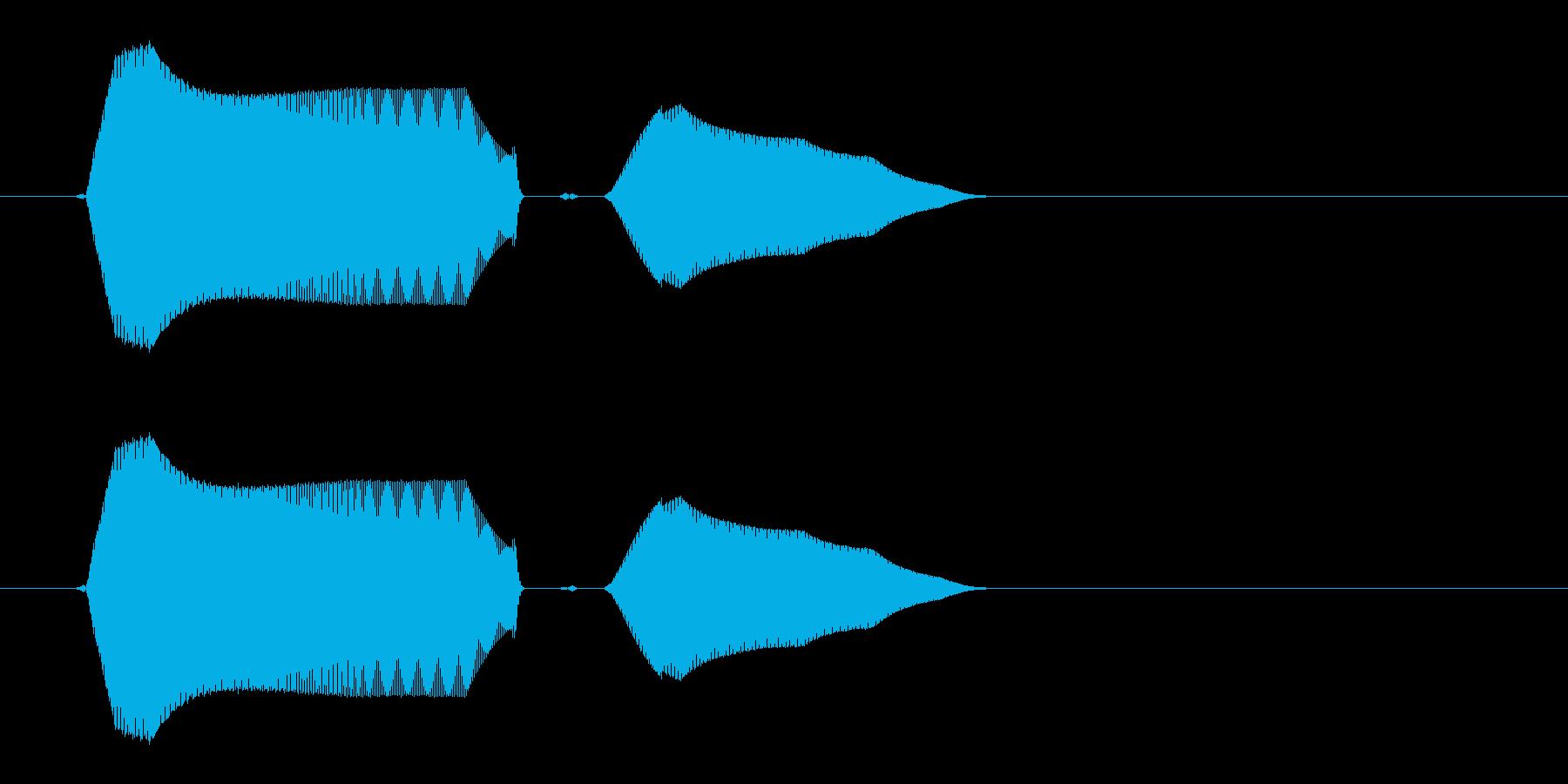 ピュッと鳴く鳥の効果音の再生済みの波形
