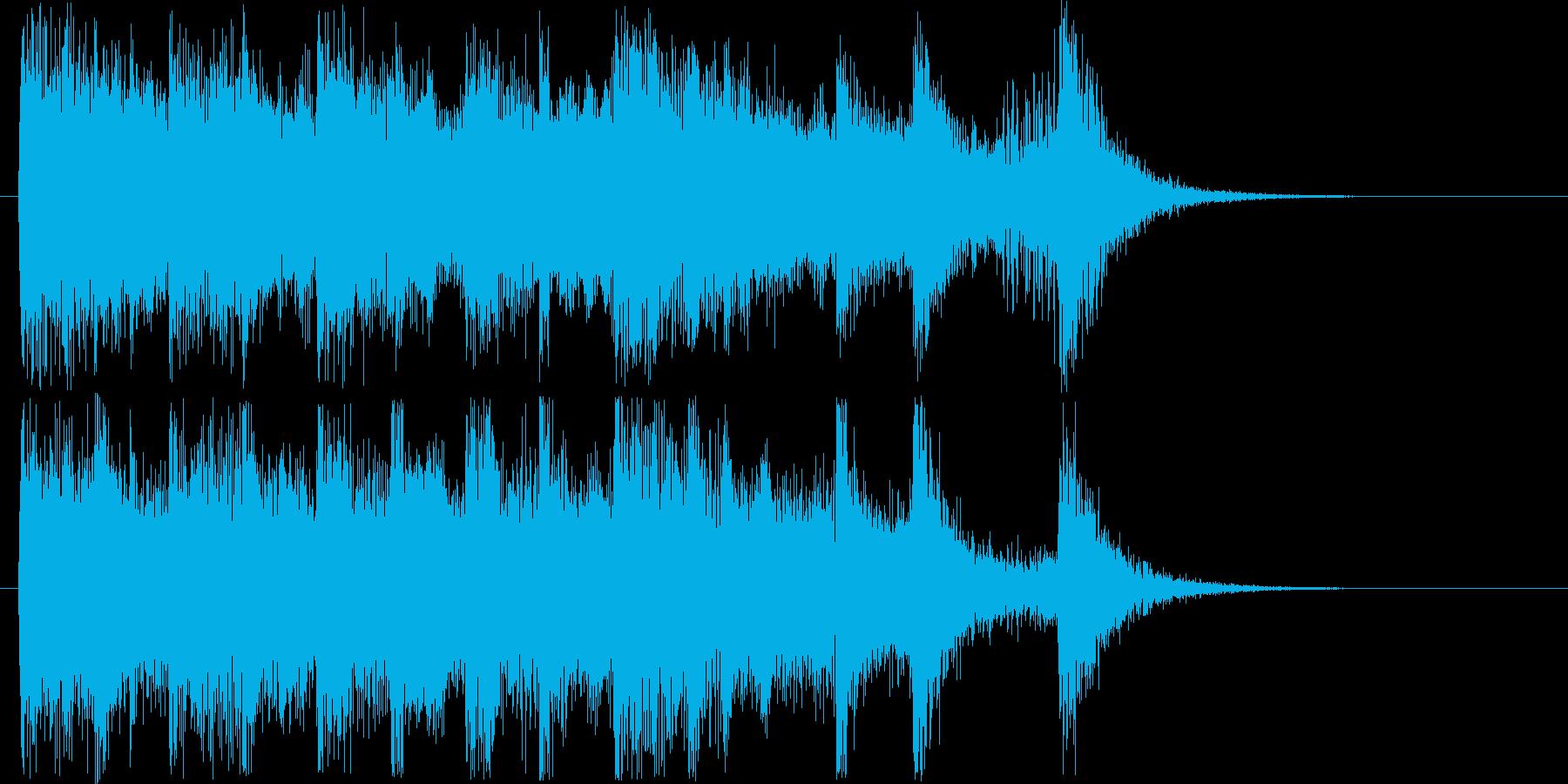 楽しげなオーケストラシンセの再生済みの波形