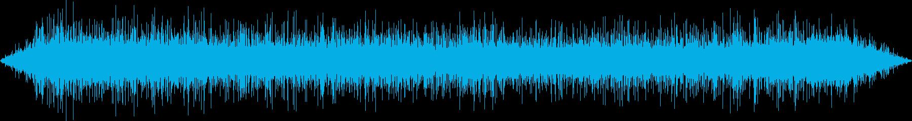 ザアア(雨・右)の再生済みの波形