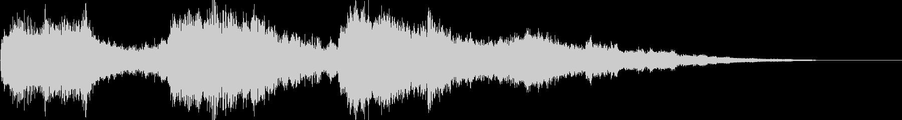 キラキラピアノのCM前ジングルの未再生の波形