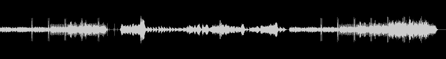 レゲエ風の音楽とピアノと弦の静かな中間部の未再生の波形
