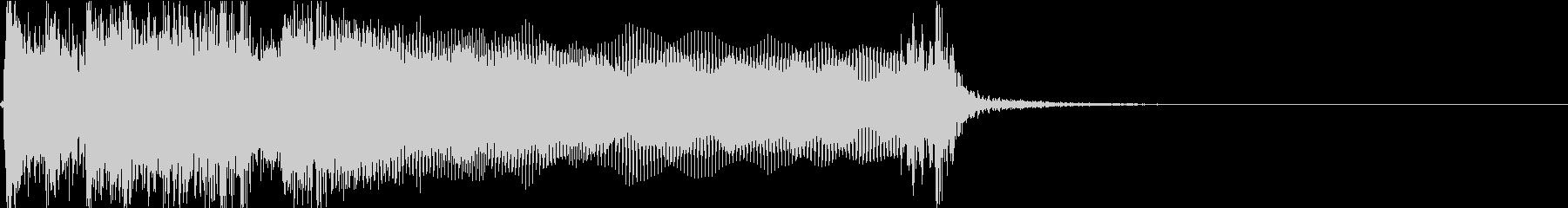 生演奏でのハードなロックジングルS2の未再生の波形