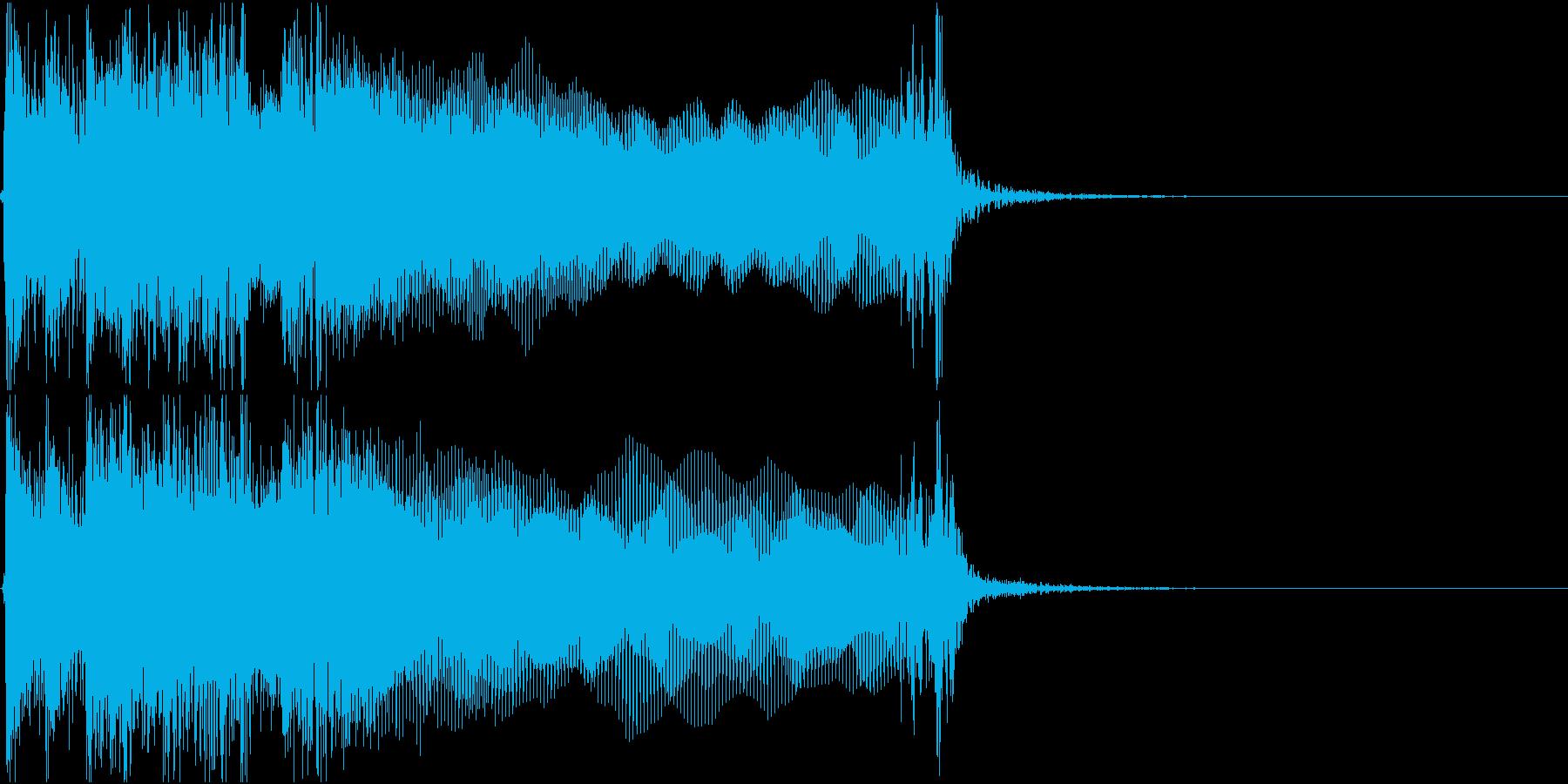 生演奏でのハードなロックジングルS2の再生済みの波形