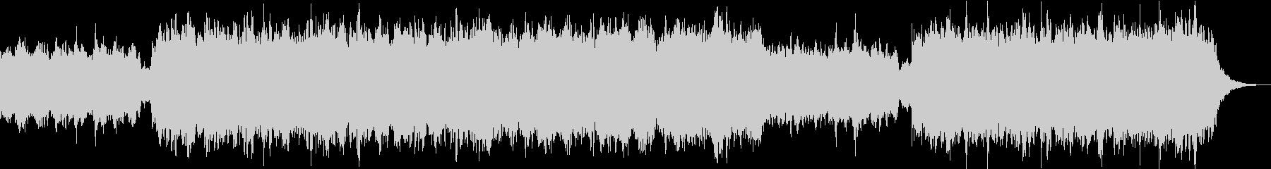 幻想的なヒーリングBGMの未再生の波形