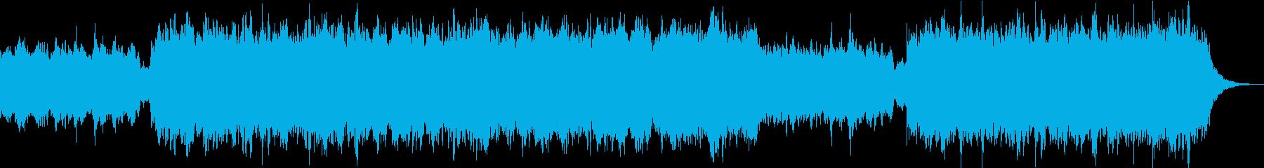幻想的なヒーリングBGMの再生済みの波形