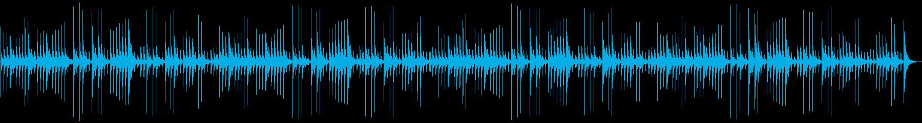 動物や赤ちゃんが寝ている時の鉄琴の癒し曲の再生済みの波形