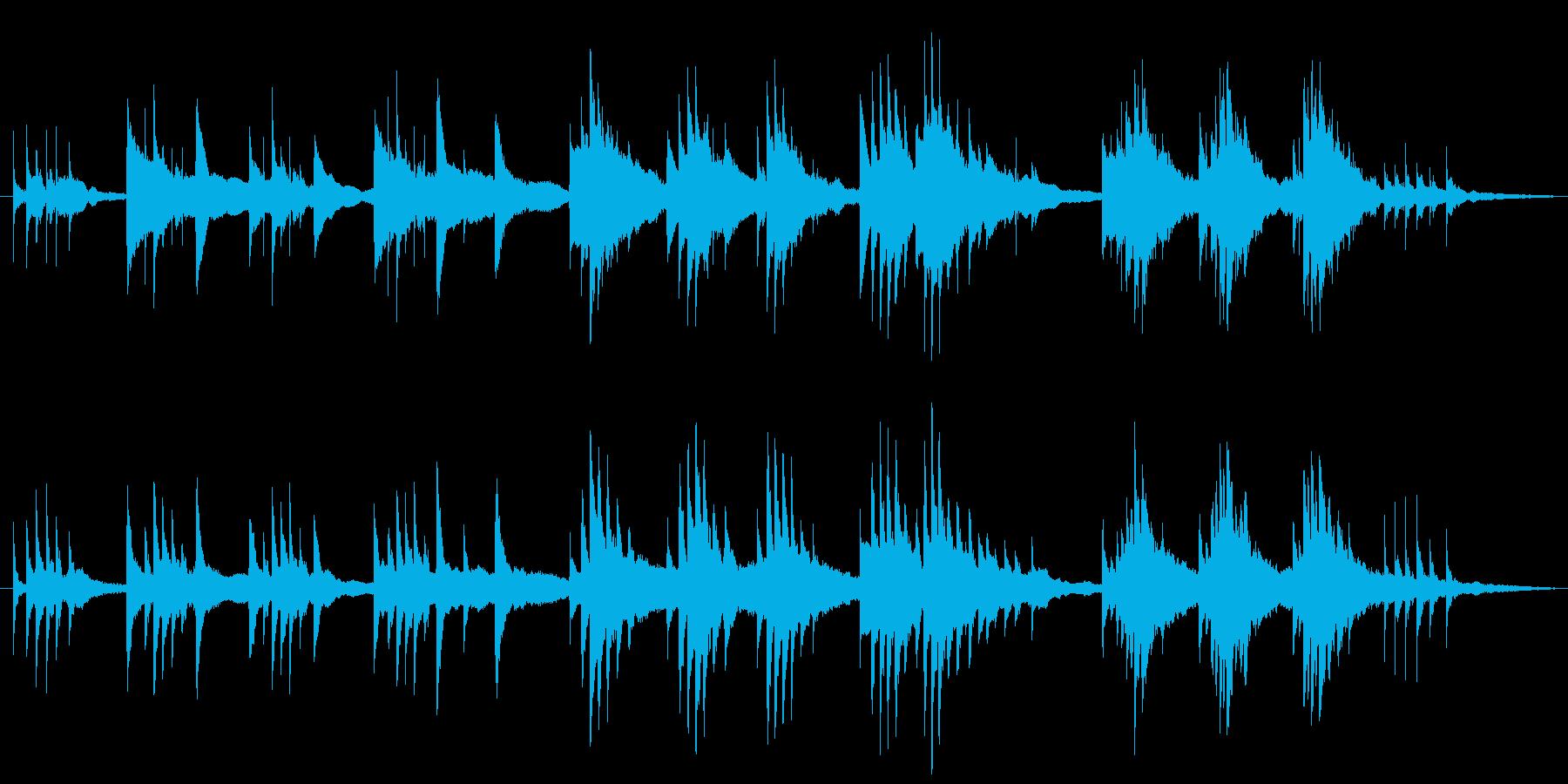 生ピアノ録音-星が降ってくる神秘的なソロの再生済みの波形