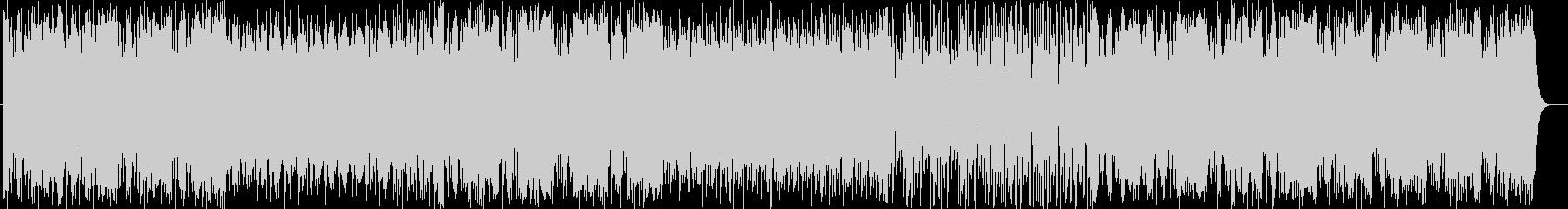 インパクトあるアップテンポな曲の未再生の波形