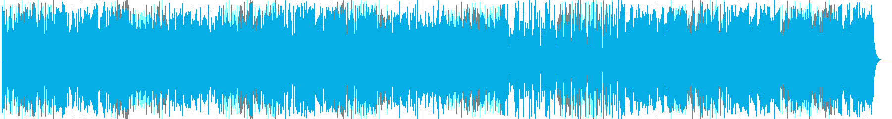 インパクトあるアップテンポな曲の再生済みの波形