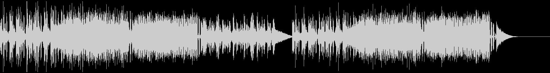 激しいエレクトロミュージックの未再生の波形