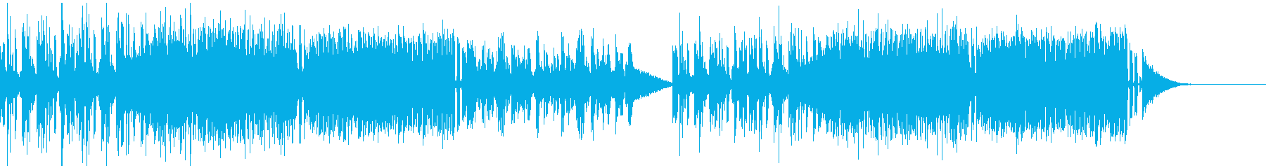 激しいエレクトロミュージックの再生済みの波形