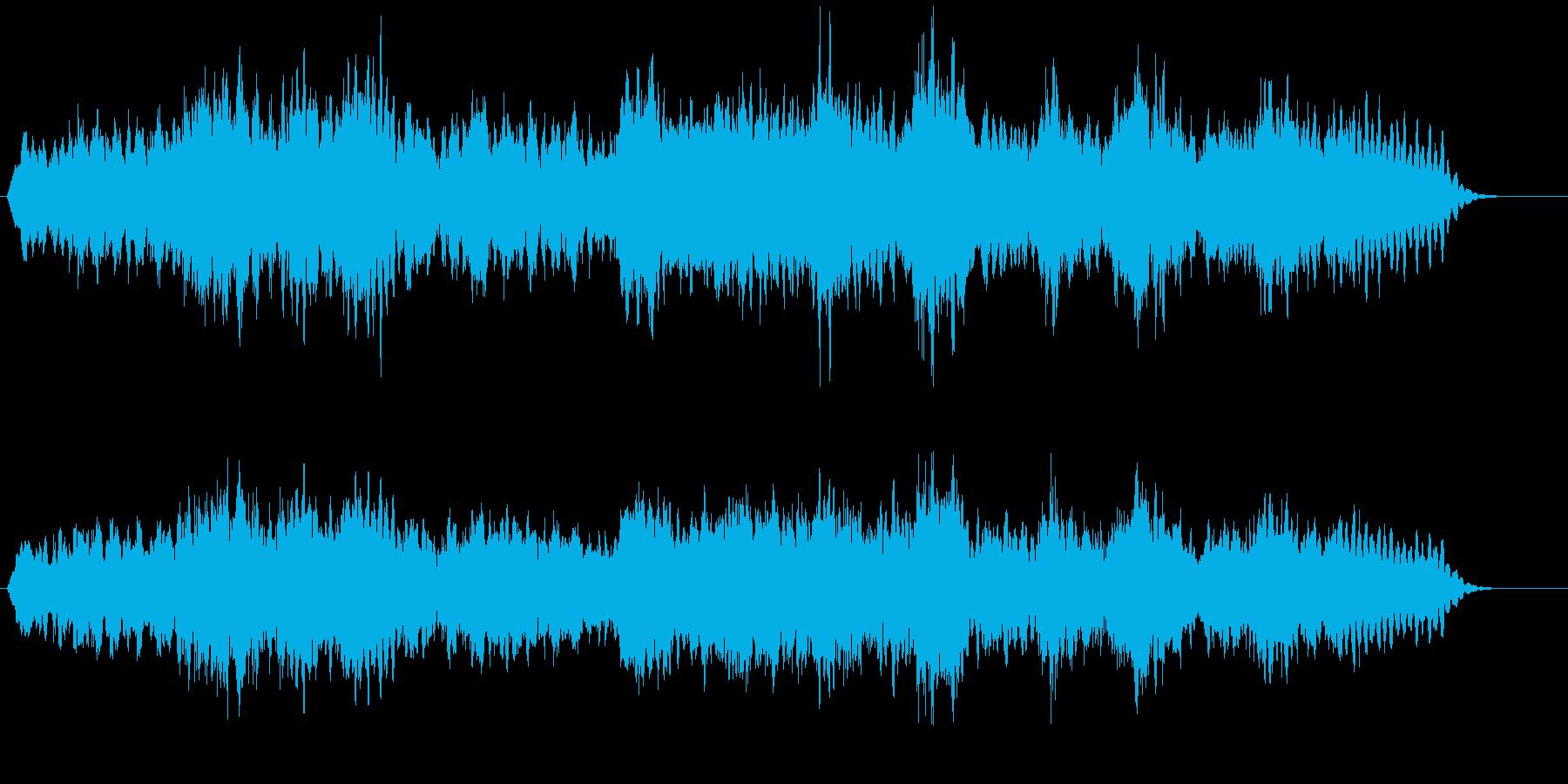 ストリングス系音色の不気味なBGMの再生済みの波形