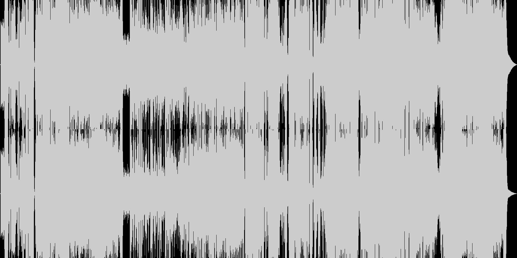 爽やかで清楚なアニソンの未再生の波形