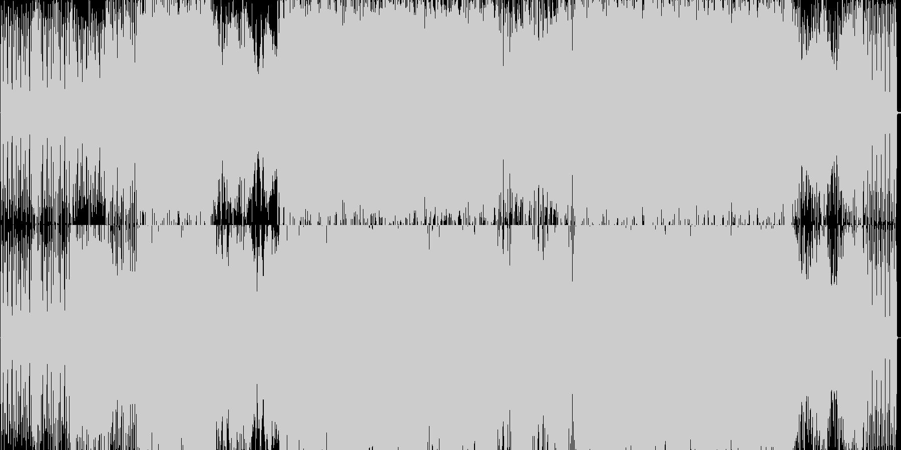 ギターリフが特徴的なドラムンベースの未再生の波形