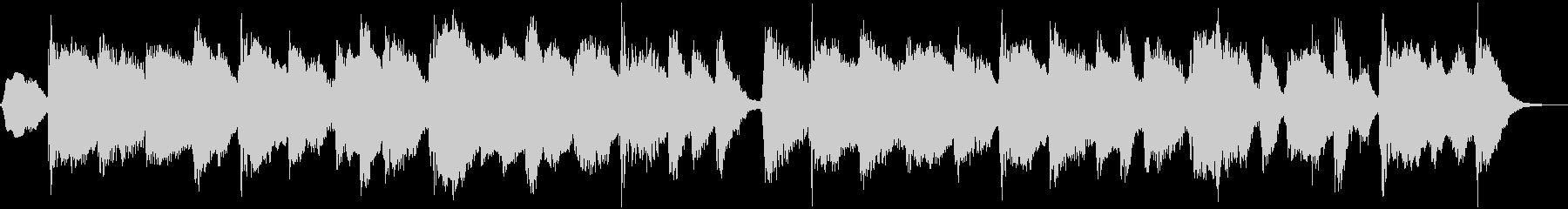 クラリネットのまったりとしたBGMの未再生の波形