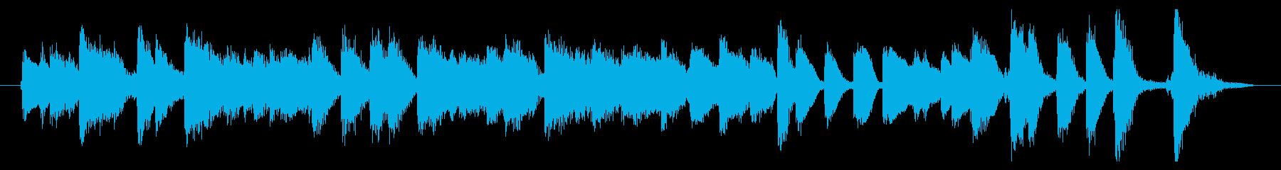 ジングル 楽しいジャズピアノトリオ の再生済みの波形