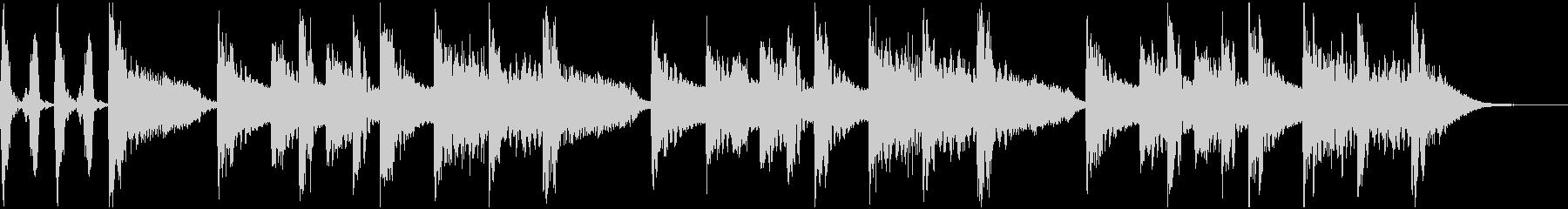 ラッパー、DJ風 サウンドロゴ、ジングルの未再生の波形