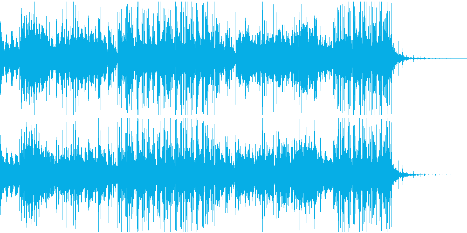夜明け、始まりのイメージのサウンドの再生済みの波形