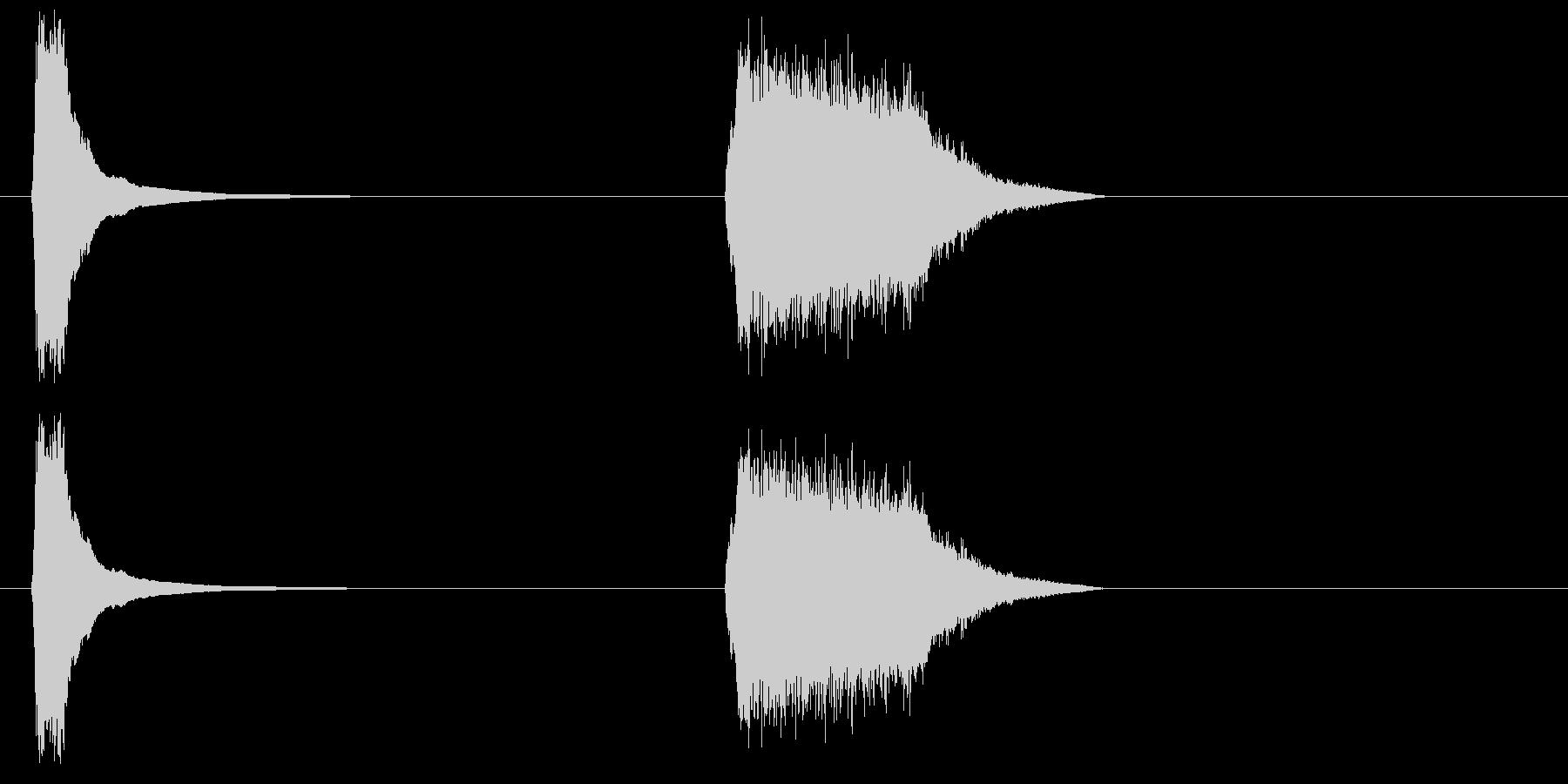 フレンチホーン攻撃-2つの効果;攻撃。の未再生の波形