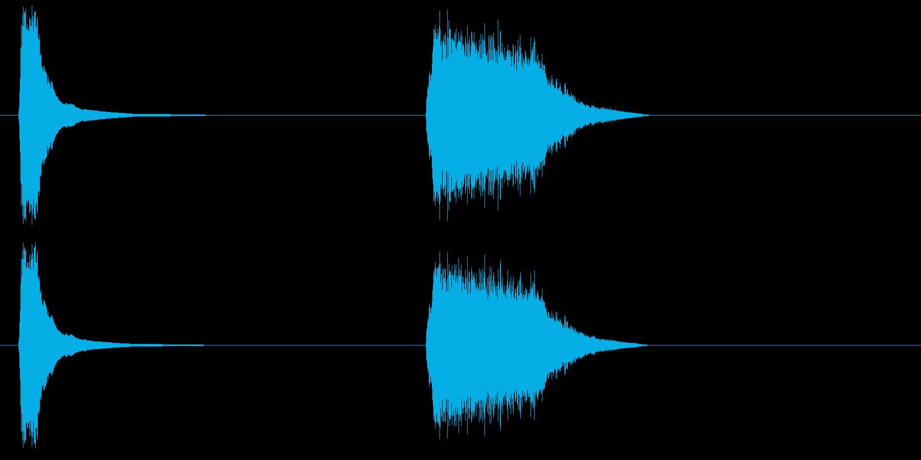 フレンチホーン攻撃-2つの効果;攻撃。の再生済みの波形