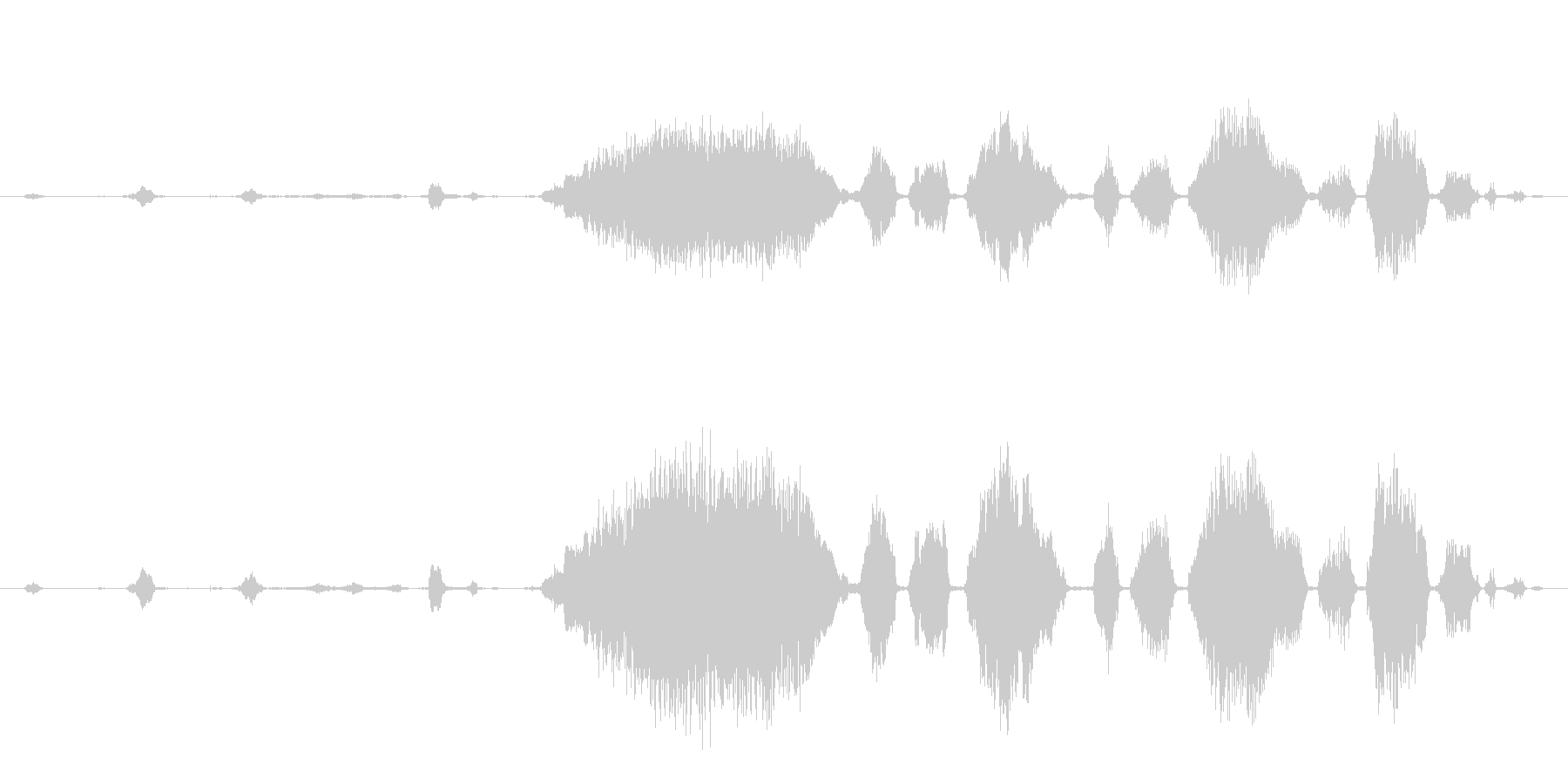 ロバ 泣く03の未再生の波形
