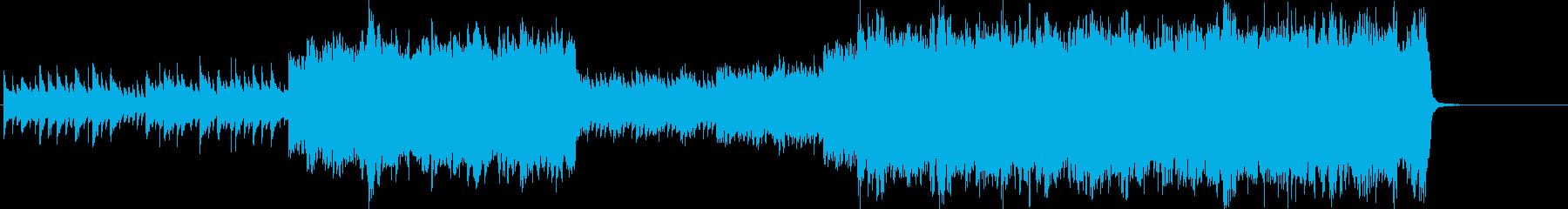 壮大で感動的なバラードの再生済みの波形