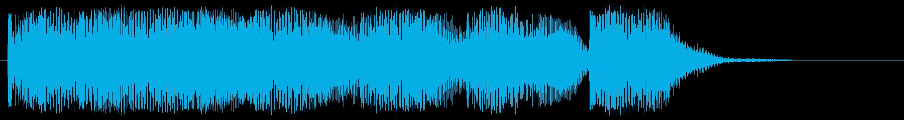 ノリの良い場面転換 サイバーなジングルの再生済みの波形