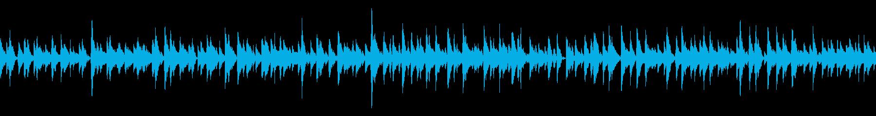 ペット映像に可愛い系BGM (ループ)の再生済みの波形