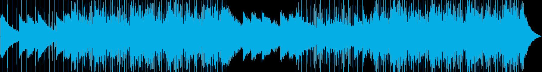 明るいポップミュージックの再生済みの波形
