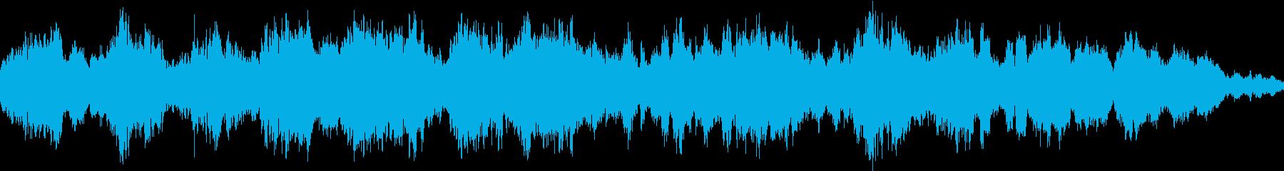 環境音(ちょっと暗め)の再生済みの波形