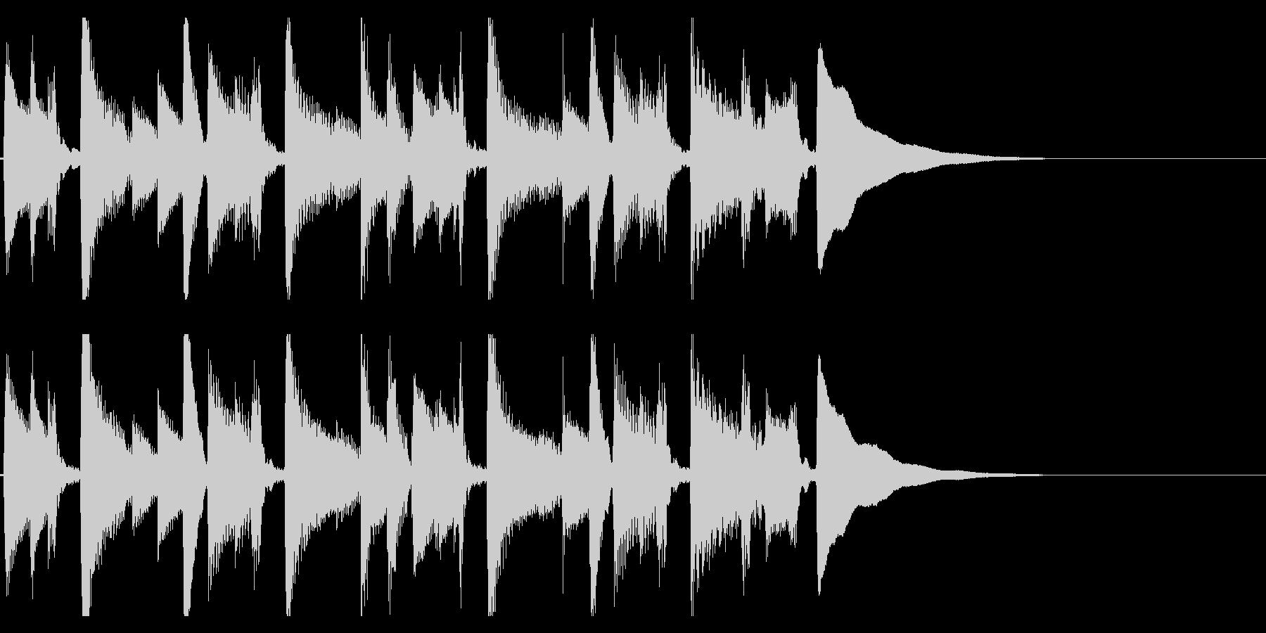 生演奏アコギのジングル10 優しいの未再生の波形