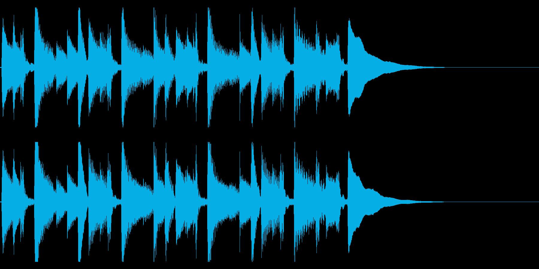 生演奏アコギのジングル10 優しいの再生済みの波形