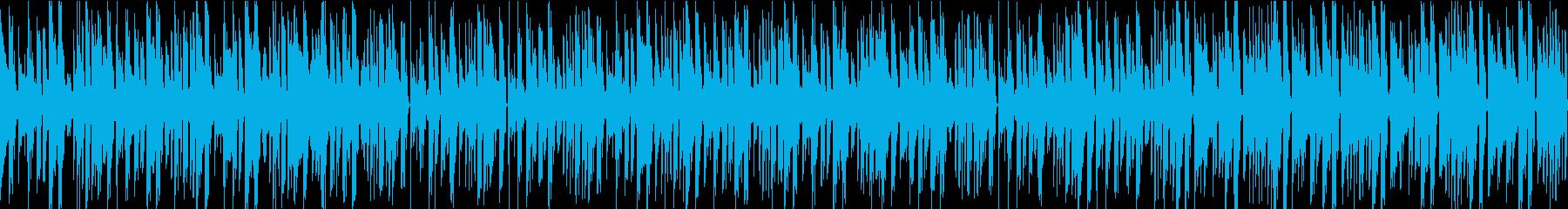 お洒落なジャズとベースのループBGMの再生済みの波形