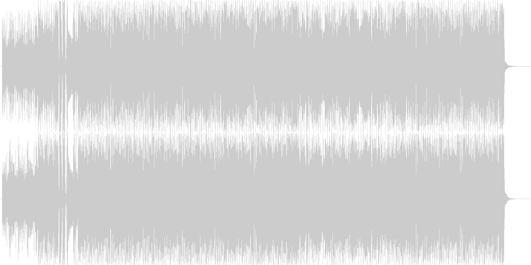 ホーンセクションが特徴的なロックなBGMの未再生の波形