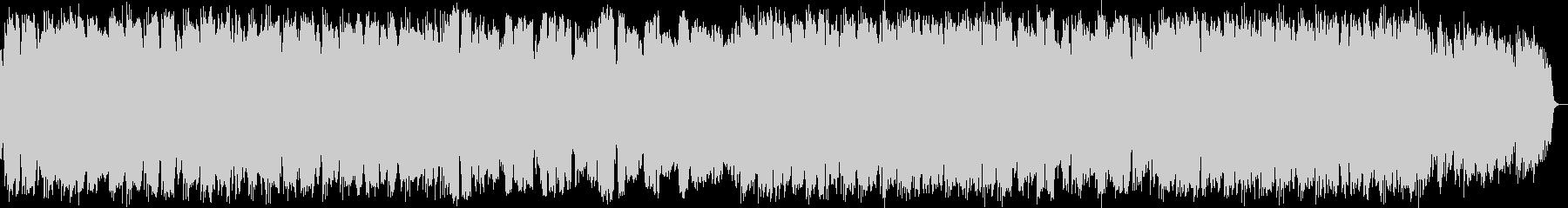 ケーナとシンセサイザーのニューエイジ音楽の未再生の波形