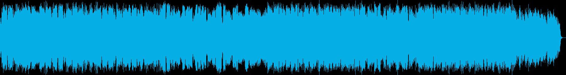 ケーナとシンセサイザーのニューエイジ音楽の再生済みの波形