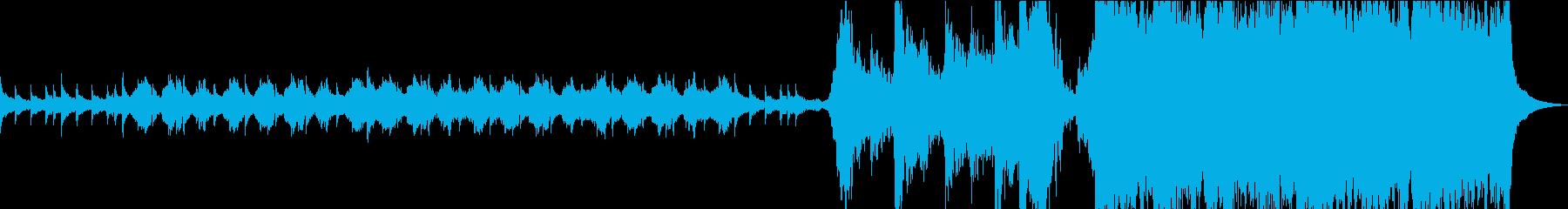 ハリウッド映画の予告編風オーケストラの再生済みの波形